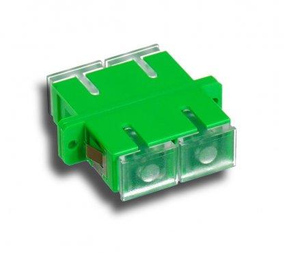 Adapter światłowodowy SC/APC, SM, Duplex, TRANSPARENT