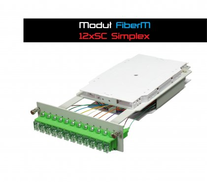 Moduł FiberM 12xSC Simplex