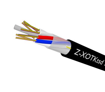 Kabel zewnętrzny wielotubowy, kanałowy, 4 - 8J