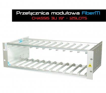 """Przełącznica Modułowa FiberM -  CHASSIS 3U 19"""" 12SLOTS"""