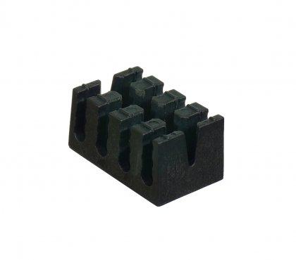 Uchwyt/rozdzielacz na 12 Tub ochronnych czarny