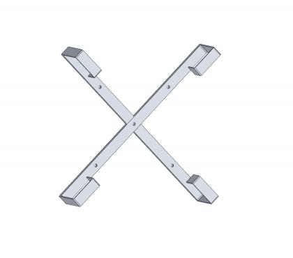 Stelaż zapasu kabla aluminiowy 60cm