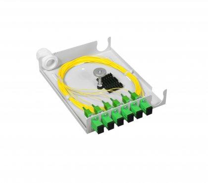 Przełącznica Naścienna LPX v2 mini - 6SC Simplex (przystosowana do kabla łatwego dostępu)